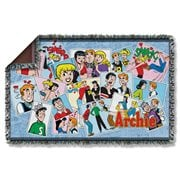 Archie Panels Woven Tapestry Throw Blanket
