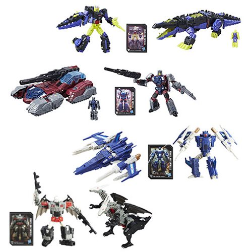 Transformers Generations Titans Return Deluxe Wave 4 Revision 1 Set