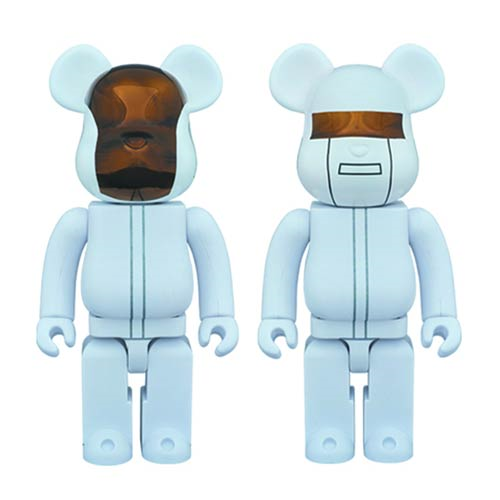 Daft Punk White Suits Version 400% Bearbrick 2-Pack