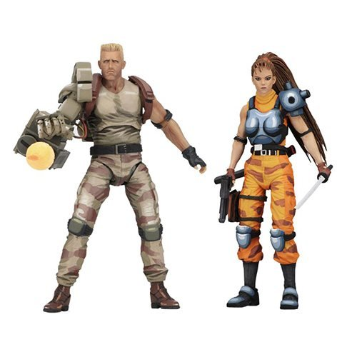 Alien vs Predator Dutch and Lin Arcade Version 7-Inch Scale Action Figure 2-Pack