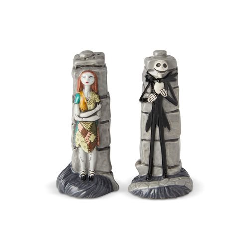 Nightmare Before Christmas Jack Skellington and Sally Salt and Pepper Shaker Set