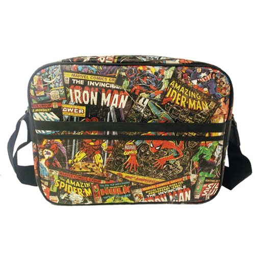 Marvel Comics Black Messenger Bag