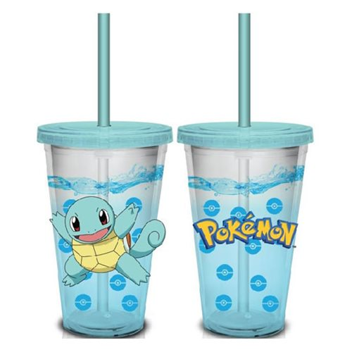 Pokemon Squirtle Pokeball Confetti Glitter 16 oz. Travel Cup
