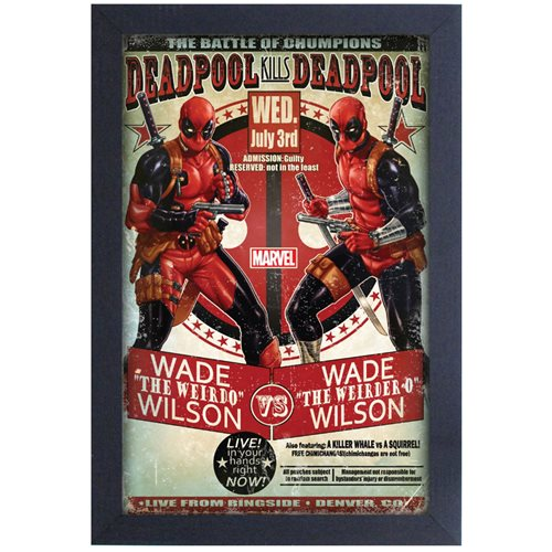 Deadpool Battle of the Champions Framed Art Print
