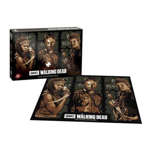 The Walking Dead AMC TV Show Fight the Dead Fear the Living 1000-Piece Premium Puzzle