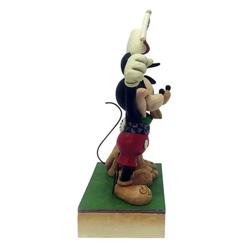 Disney Traditions Mickey Mouse and Pluto Patriotic A Banner Day by Jim Shore Statue