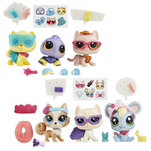 Littlest Pet Shop Pets and Fashions Wave 2 Set