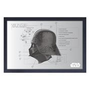 Star Wars Darth Vader Helmet Schematic Framed Art Print