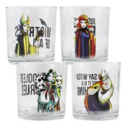 Disney Villains 10 oz. Glass 4-Pack