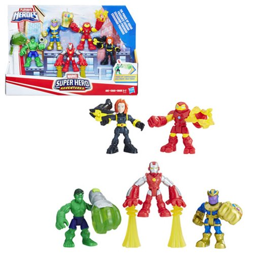 Marvel Super Hero Adventures The Power Up Squad 5-Pack Mini-Figures