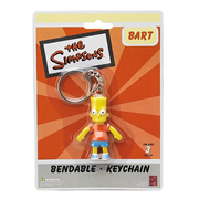 Simpsons Bart Simpson Bendable Key Chain