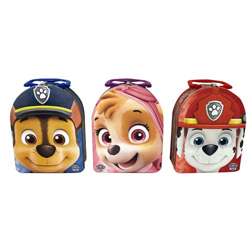 Paw Patrol Arch Carry All Embossed Tin Tote Lunch Box Set