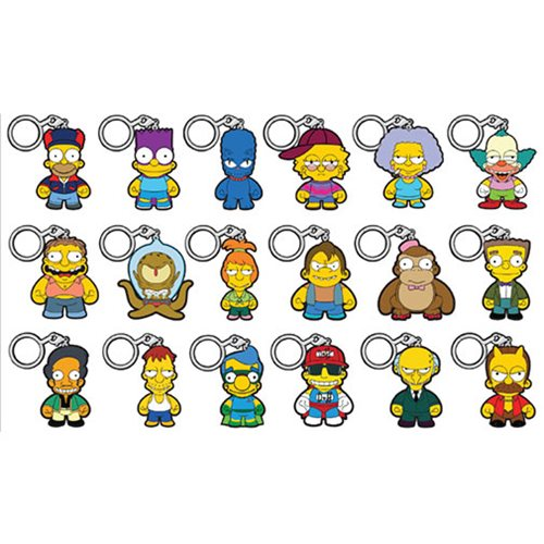 The Simpsons Crap-Tacular! Key Chain Random 4-Pack