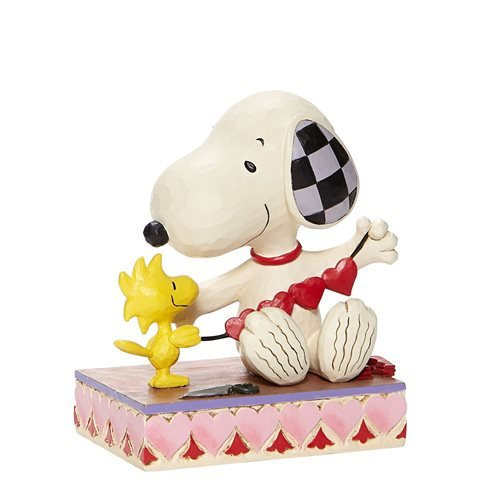 Peanuts Snoopy With Hearts Garland Stringing Hearts by Jim Shore Statue