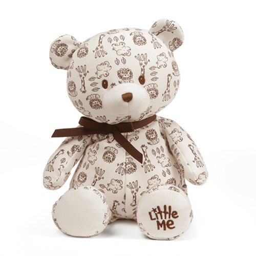 Little Me Safari Print Teddy Bear 10-Inch Plush