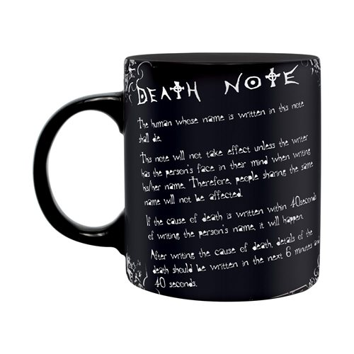 Death Note L and Rules 11 oz. Mug