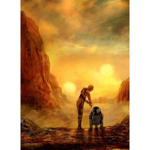 Star Wars Helping Hands by Cliff Cramp Canvas Giclee Art Print