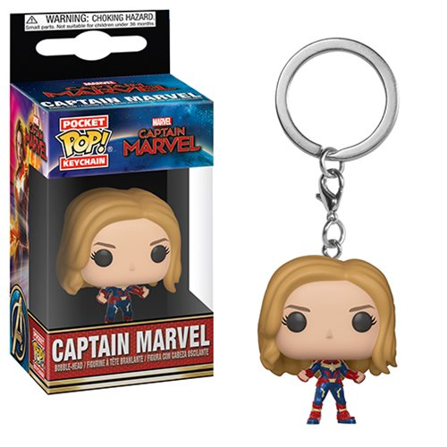 Captain Marvel Unmasked Pocket Pop! Key Chain