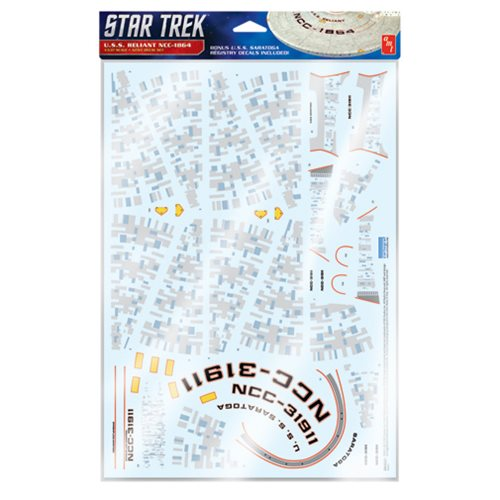 Star Trek U.S.S. Reliant Aztec Model Kit Decals