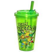 Teenage Mutant Ninja Team Turtle 16 oz. Flip-Straw Travel Cup