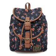 Captain America Floral Print Fashion Backpack