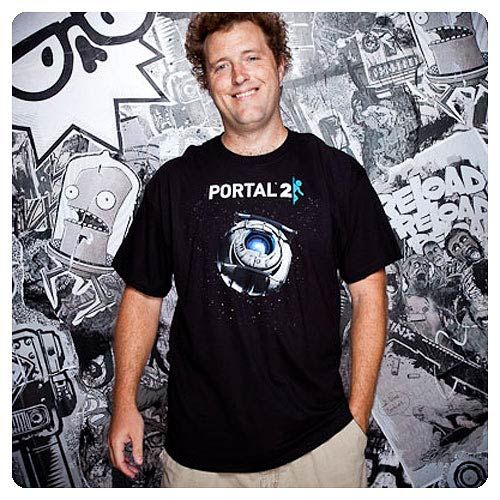 Portal 2 Wheatley in Space Black T-Shirt