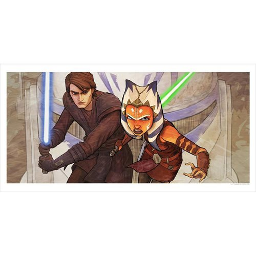 Star Wars: The Clone Wars Whatever Is Required by Brent Woodside Lithograph Art Print