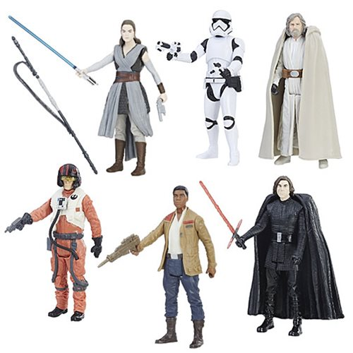 Star Wars: The Last Jedi Orange 3 3/4-Inch Action Figures Wave 1 Set