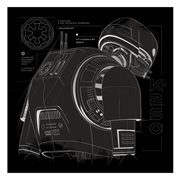 Rogue One K-2S0 Infographic Metallic Canvas Print