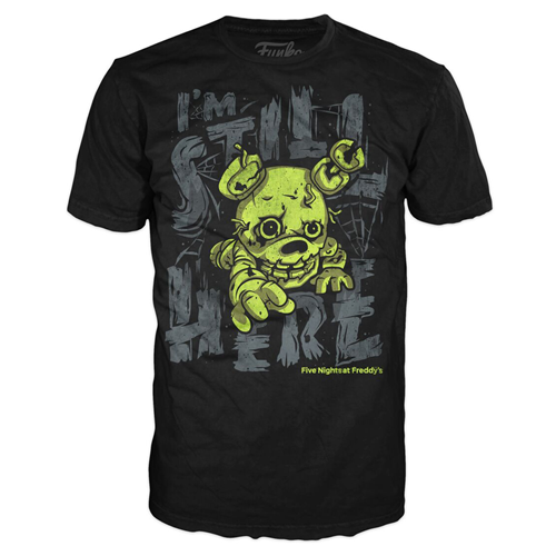 Five Nights at Freddy's Springtrap Still Here Black T-Shirt