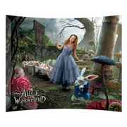 Alice In Wonderland Alice in the Garden Glass Photo