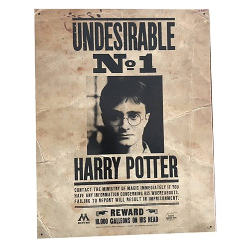 Harry Potter Number One Undesirable Tin Sign