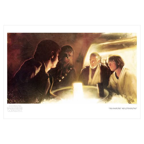 Star Wars Transport Negotiations by Brian Rood Paper Giclee Art Print