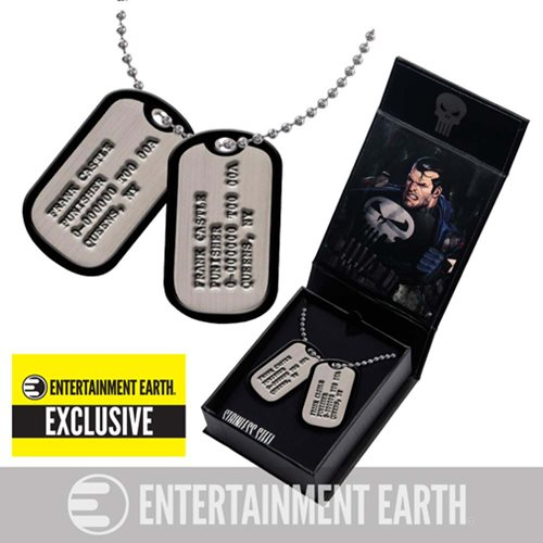 Punisher Dog Tags Necklace Replica - Entertainment Earth Exclusive