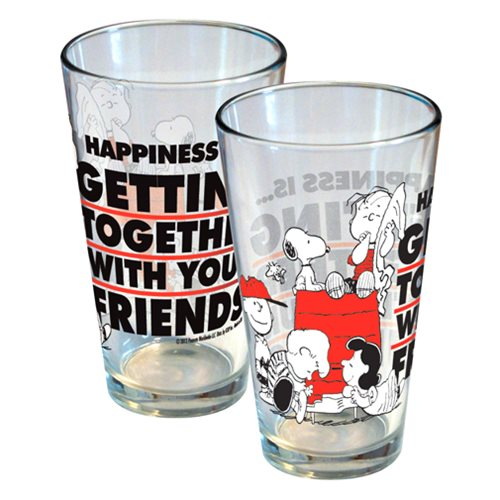 Peanuts Happiness Is Getting Together With Friends Glass