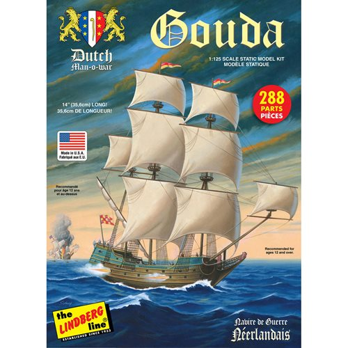 Gouda Dutch Man of War 1:125 Scale Model Kit