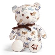 Little Me Puppy Print Teddy Bear 10-Inch Plush