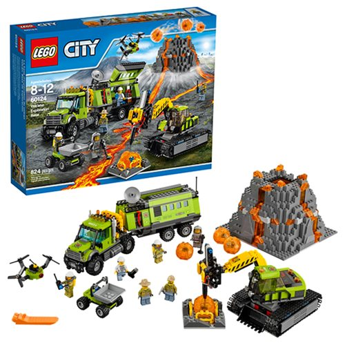 LEGO City In Out 60124 Volcano Exploration Base