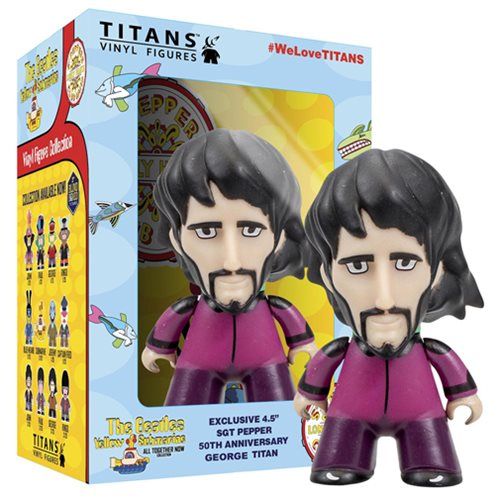 The Beatles Sgt. Pepper's George in Disguise 4 1/2-Inch Titans Vinyl Figure