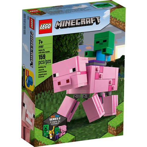 LEGO 21157 Minecraft BigFig Pig with Baby Zombie