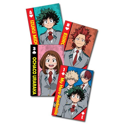 My Hero Academia School Uniforms Group Playing Cards