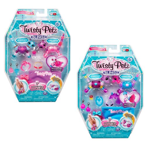 Twisty Petz Blingz Kitty and Cat Bracelet Set Case