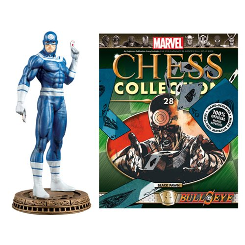 Daredevil Bullseye Black Pawn Chess Piece with Collector Magazine