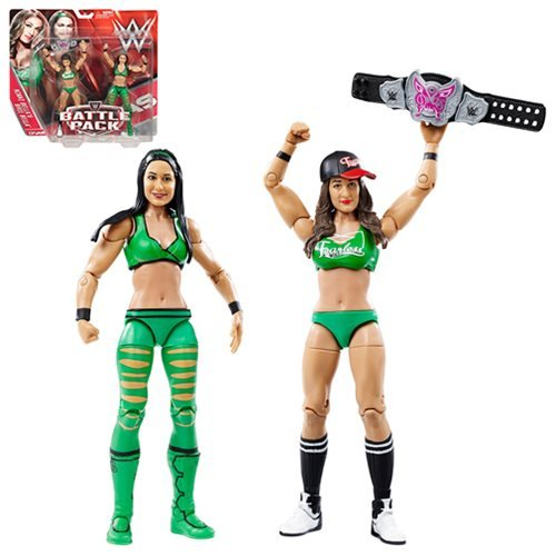 WWE Basic Series 38 Brie Bella and Nikki Bella Action Figure 2-Pack
