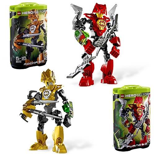 LEGO Hero Factory 3 0 Rocka and Furna Set