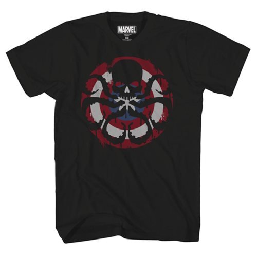 Marvel Captain Hydra Black T-Shirt - Previews Exclusive
