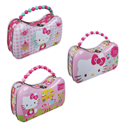 Hello Kitty Tin Tote Scoop Purse Lunch Box Set