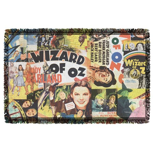 The Wizard of Oz Collage Woven Tapestry Throw Blanket