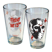 Friday 13th Jason Hockey Mask Pint Glass
