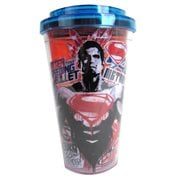 Batman v Superman Dawn of Justice Superman Sender 16 oz. Flip Straw Travel Cup